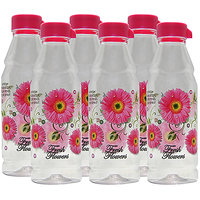 G-PET Fridge Water Bottles Rose 1 Ltr Pink - Set Of 6