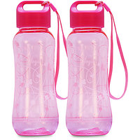 G-PET Polycarbonate Yoga Bottle Pink - Set Of 2