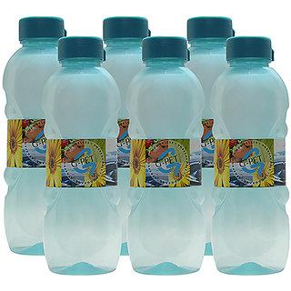 G-PET Fridge Water Bottle Daisy 1 Ltr. Sea Green - Set of 6