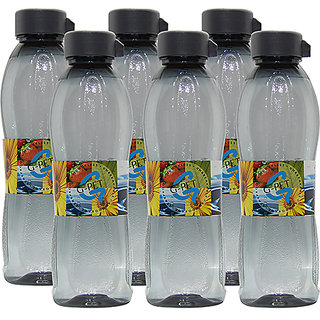 G-PET Fridge Water Bottle Irish 1 Ltr. Grey - Set of 6