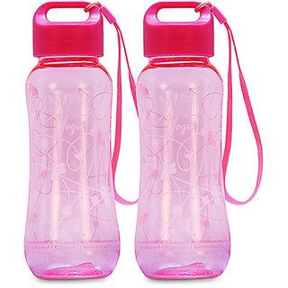 G-PET Polycarbonate Yoga bottle Pink - Set of 2