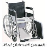 Imported Folding Wheel Chair With Commode & Detachable Foot Rest For Disabled