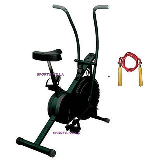 Lifeline Exercise Cardio Cycle Dual Action Air Bike  Home Gym+S Rope available at ShopClues for Rs.4584
