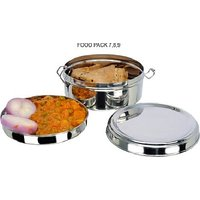 Grish Stainless Steel Food Pack Plain Cover Dabba (with Lock) Size 8