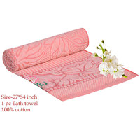 Deal Wala 1 Piece Of Peach Color Cotton Bath Towel - Hh14