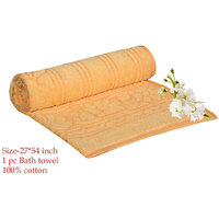 Deal Wala 1 Piece Of  Yellow Color Cotton Bath Towel - Hh17