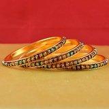 Rajasthani Gokharoo,kara Churi Meenakari,moti,cz,stone,bangles Size-2.6,2.8