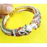 EXCLUSIVE DESIGNER OPENABLE GOLD JADAU BRACELET IN CZ DIAMONDS