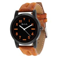 Relish Casual Tan Leather Strap Mens Watch RELISH-533