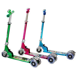 Kids Lazer 3T Scooter with Leg Break and Led Lights available at ShopClues for Rs.799