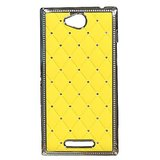 Hoa Starry Back Cover Case For Sony Xperia C C2305 (Yellow)