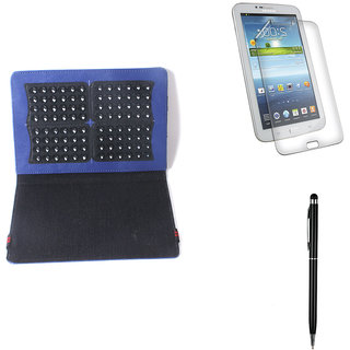 Callmate Suction Cup Cover For Samsung Tab 3 7.0  T210/T211 + Stylus + SG-D.Blue