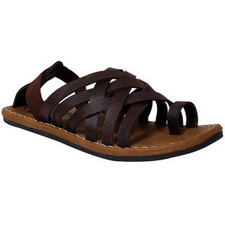 Butchi Men's Brown Slip On Sandal