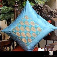 Printed Blue Desginer Cushion Cover Set Of 5