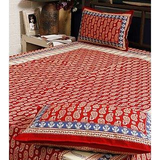 Sanganeri Hand block print Bed Sheet Design 2