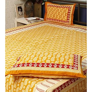 Sanganeri Hand block print Bed Sheet Design 3
