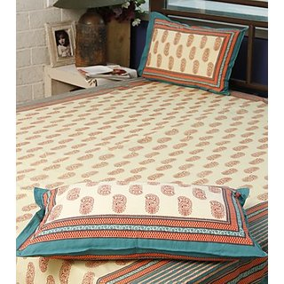 Sanganeri Hand block print Bed Sheet Design 4