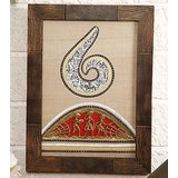Warli Handpainted And Dhokra Work Silk Painting Option 2