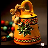 Warli Hand painted Teracotta Hanging Bell Option 2