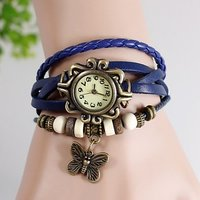 Blue Lether Strep Dori Watch For Women