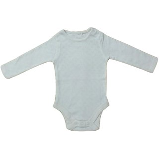 Baby Off White Stretchable Romper