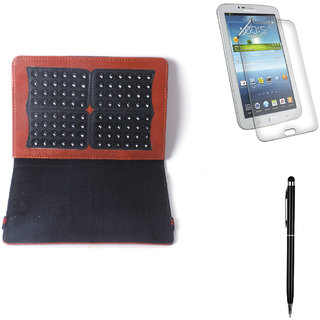 Callmate Suction Cup Cover For Samsung P6200  Tab 7.0 Plus + Stylus+ SG - Brown