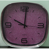 Terro Arts Steel Finish Designer Purple Shimmer Wall Clock 12 Inch TD-2303