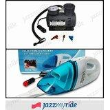 Combo Of 12V DC Car Vacuum Cleaner Heavy Duty + Air Compressor