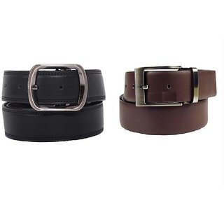 Set Of Two Reversible Belts Black And Brown Rb2rb1