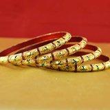 Rajasthani Gokharoo,kara Churi Meenakari,moti,cz,stone,bangles Size-2.4,2.6,2.10