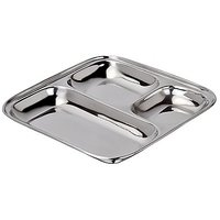 Grish Stainless Steel Pav Bhaji Plates Size Big (set Of 2)