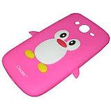 Hoa Penguin Case Cover For Micromax Canvas 2 A-110 (Babypink) Hoa/Pen/A-110/Babypink
