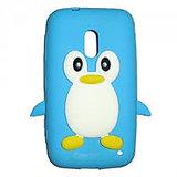 Hoa Penguin Case Cover For Micromax Canvas 2 A-110 (Light Blue) Hoa/Pen/A-110/Lightblue