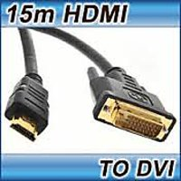 15M HDMI TO DVI CABLE HIGH SPEED HDMI TO DVI-D