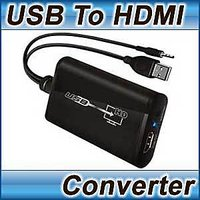 USB 2.0 TO HDMI ADAPTER CONVERTER VIDEO + AUDIO HD 1080P