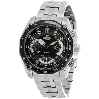 Casio Edifice Analog Black Dial Men's Watch - EF-550D-1AVDF