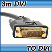 3M DVI CABLE DUAL LINK DVI-D TO DVI-D MALE LEAD 24+1 25 PIN LAPTOP TV MONITOR