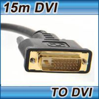 15M DVI CABLE DUAL LINK DVI-D TO DVI-D MALE LEAD 24+1 25 PIN LAPTOP TV MONITOR