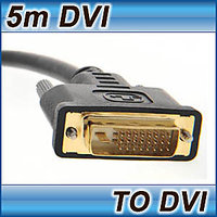 5M DVI CABLE DUAL LINK DVI-D TO DVI-D MALE LEAD 24+1 25 PIN LAPTOP TV MONITOR