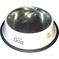 Petsplanet Stainless Steel Stylish Dog Food Bowl - WHITE 450 ML
