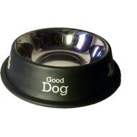Petsplanet Stainless Steel Stylish Dog Food Bowl - BLACK 450 ML