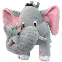 Deals India Mother Elephant With 2 Babies Soft Toy - 38 Cm