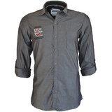 Integriti Solid Grey Cotton Shirt (HHP00493)