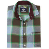 Swank Mens Casual Slim Fit Brown Checks SK 7005