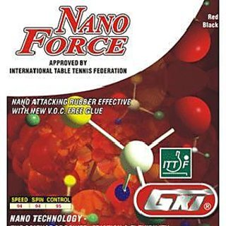 GKI Nano Force Table Tennis Rubber(Red)