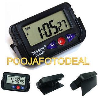 nako Mountable LCD Alarm Stopwatch Clock Travel Automobile Car bike watch