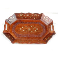 Exclusive Wooden Carved Serving Tray