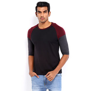 Roadster Men Black T-shirt at Best Prices - Shopclues Online ...