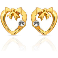 Mahi Gold Plated Heart Earrings (ER1103694G)