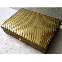 Handicraft Mdf Dry Fruit Box Golden
